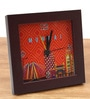 Multicolour Glass & Plastic 5.6 x 2 x 5.6 Inch Mumbai Cityscape Alarm Clock by The Elephant Company