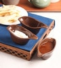 The Himalayan Goods Company Brown Ceramic 100 ML Stackable Sauce Boats - Set of 3
