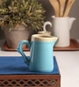 The Himalayan Goods Company Turquoise and Tan Ceramic Stoneware 270 ML Pitcher