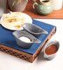 The Himalayan Goods Company Grey Ceramic 100 ML Stackable Sauce Boats - Set of 3