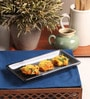 The Himalayan Goods Company Black & Grey Stoneware 8 x 4 Inch Serving Tray
