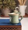 The Himalayan Goods Company Olive Green & Beige Ceramic 250 ML Handmade Jug