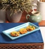 The Himalayan Goods Company Turquoise Ceramic Handmade Rectangular Serving Tray