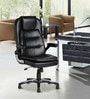 The Largas Executive High Back Chair in Black Colour by VJ Interior