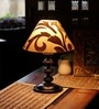 Khadi Gold Poly Cotton Table Lamp by The Light House