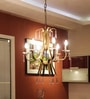 Antique Brass Brass & Crystal Chandelier by Kapoor E Illuminations