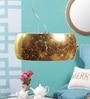 Gold Metal & Glass Pendant by Kapoor E Illuminations