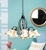 Off White Metal & Ceramic Chandelier by Kapoor E Illuminations