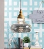 Silver and Brown Glass Pendant by Kapoor E Illuminations