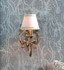 White Brass Wall Light by Kapoor E Illuminations