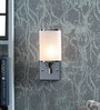 White Glass Wall Light by Kapoor E Illuminations