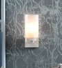 Kapoor E Illuminations White Metal & Glass Wall Light