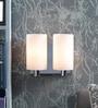 White Metal & Glass Wall Light by Kapoor E Illuminations