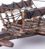 Brown Mdf & Mango Wood Bullock Cart Miniature By Nandani Wood