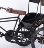 Black Mango Wood & MDF Jodhpuri Antique Rickshaw with Hut by Nandani Wood