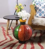 Multicolour Mango Wood & MDF Jodhpuri Flower Vase by Nandani Wood