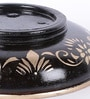 Black Mango Wood & MDF Jodhpuri Round Design Candle Stand by Nandani Wood