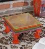 Multicolour MDF Handpainted Jodhpuri Chowkie by Nandani Wood