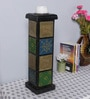 The Mikky Shoppe Station Multicolour MDF Jodhpuri Candle Stand