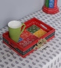 The Mikky Shoppe Station Multicolour MDF Rajasthani Painting Tray