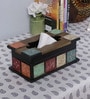 Multicolour MDF Tissue Box by Nandani Wood