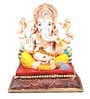 The Nodding Head Multicolor Polyresin Dhoti Sitting Ganesha Idol
