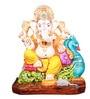 The Nodding Head Multicolor Polyresin Sitting Lord Ganesha Idol