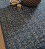Indigo Cotton Abstract Hand Woven Area Rug by The Rug Republic