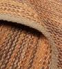 Multicolour Cotton & Jute Solid Carpet by The Rug Republic