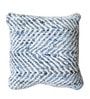 Multicolour Denim & Chenille 18 x 18 Inch Cushion Cover with Insert by The Rug Republic