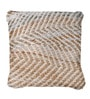 Multicolour Denim & Chenille 18 x 18 Inch Sandy Cushion Cover with Insert by The Rug Republic