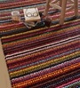 Multicolour Fabric Abstract Hand Woven Area Rug by The Rug Republic