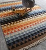 The Rug Republic Multicolour Pet Yarn Geometric Pattern Carpet