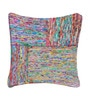 Multicolour Recycled Silk 18 x 18 Inch Cushion Cover with Insert by The Rug Republic
