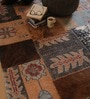 The Rug Republic Multicolour Wool & Hide Abstract Hand Knotted Area Rug