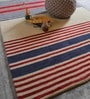 Multicolour Wool Geometric Pattern Carpet by The Rug Republic