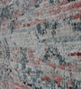 Red & Grey Viscose Abstract Pattern Carpet by The Rug Republic