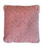 Red Cotton 18 x 18 Inch Martos Cushion Cover with Insert by The Rug Republic