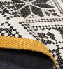 White & Black Wool Geometric Pattern Carpet by The Rug Republic