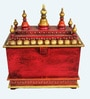 Multicolour MDF & Mango Wood Temple by The Shopy