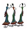 Multicolour Metal Figurine - Set of 3 by The Shopy