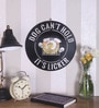 The Upcycle Project Black Vinyl Record Dog Can't Hold It's Licker Wall Sticker