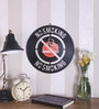 Black Vinyl Record No Smoking Wall Sticker by The Upcycle Project