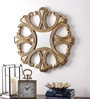 Antique Gold Wooden Round Wall Mirror by The Yellow Door