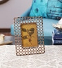 The Yellow Door Brown Iron 7.5 x 9.5 Inch Mesh Photo Frame