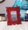 The Yellow Door Red & Gold Iron 8.5 x 0.5 x 10.5 Inch Photo Frame
