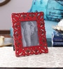 The Yellow Door Red & Gold MDF 9 x 0.5 x 11 Inch Photo Frame