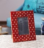 The Yellow Door Red & White Wood & Resin 8.5 x 10.5 Inch Photo Frame