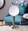 Silver Aluminium Magnifying Dressing Mirror by The Yellow Door