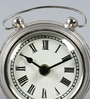Silver Glass & Stainless Steel 4.5 x 2 x 4 Inch Vintage Desk Clock by The Yellow Door